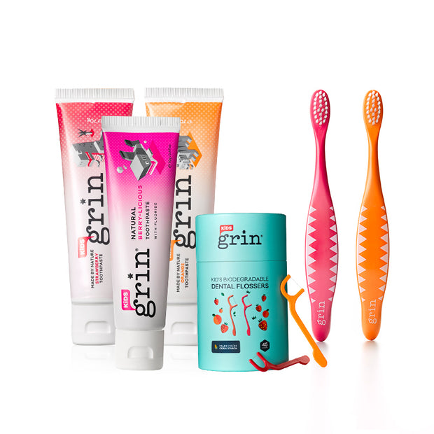 Grin Kids Complete Oral Care Pack - Grin Natural Australia