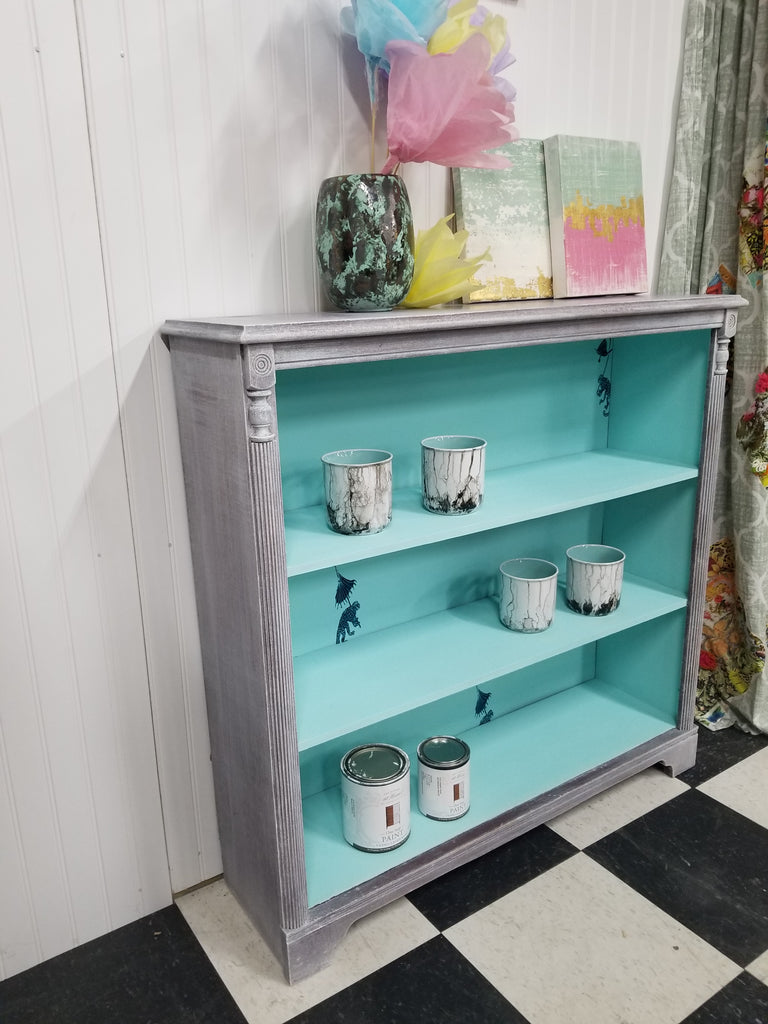 Whimsical Bookcase Makeover