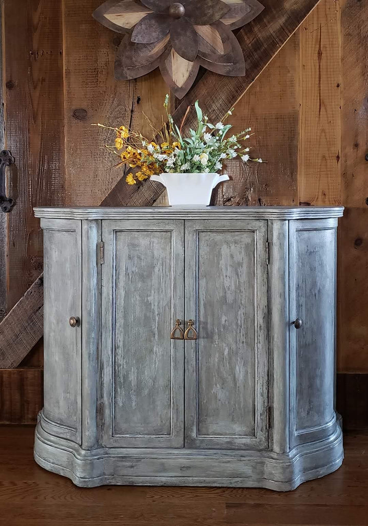 Old World Console Table With Cracked Gesso