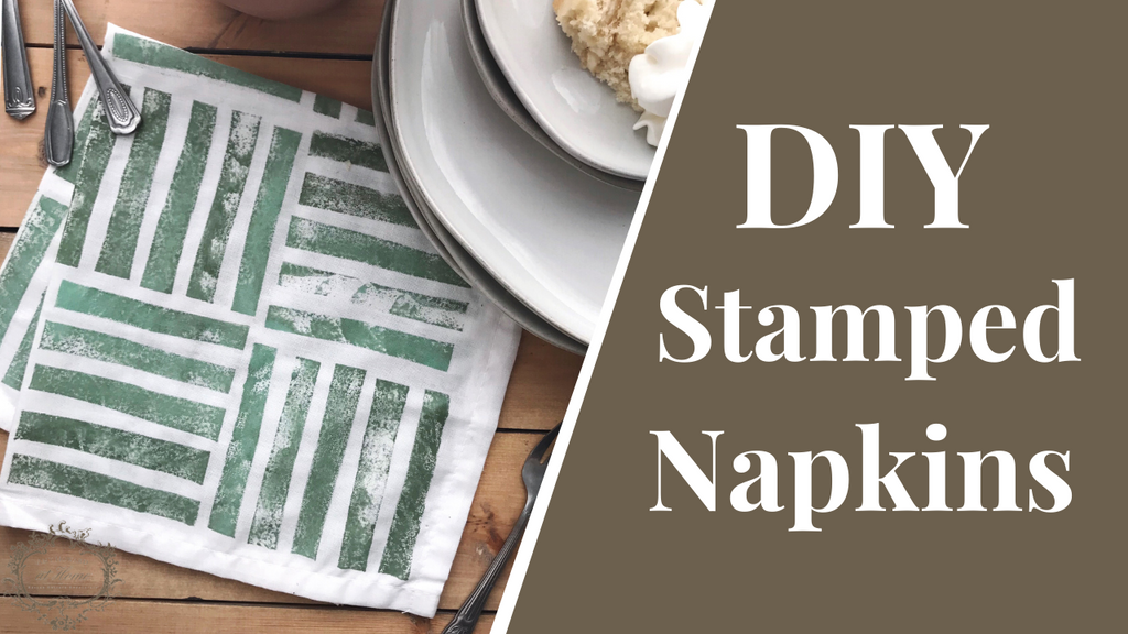 Cute DIY Stamped Napkins