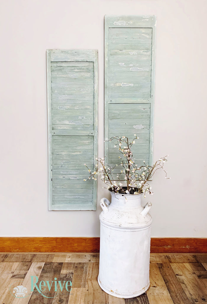 DIY Shabby Shutters Using Layered Milk Paints