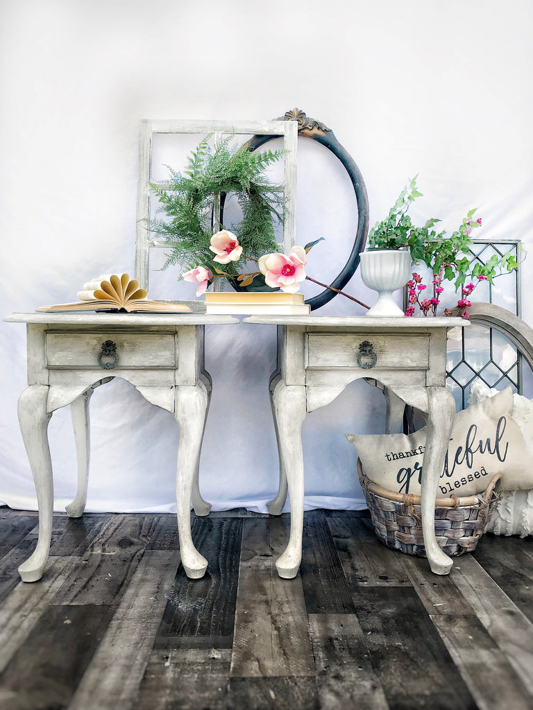 How To: Cracked Gesso End Tables With A Custom Wax