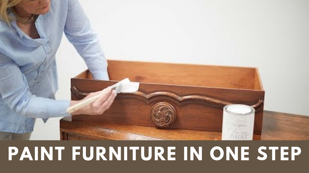How To Paint Furniture In One Step