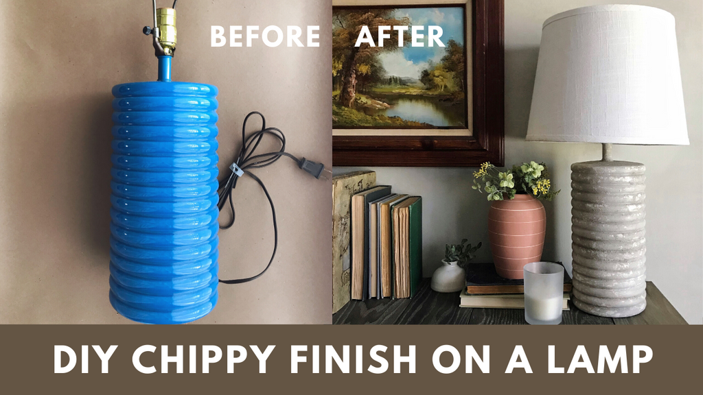 DIY Chippy Finish Lamp