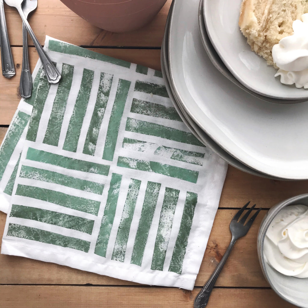 DIY Stamped Napkins Using One Step Paint