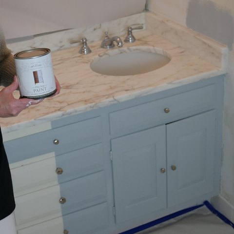Amy Howard at Home | One Step Paint | Bathroom Vanity Project