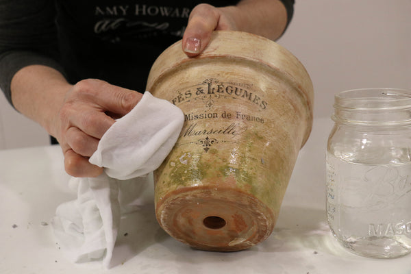 Decorate your own terra cotta pot to look like a beautiful, aged antique. Learn how to make your plant pot look mossy and aged without waiting decades.