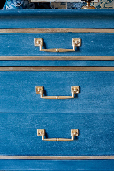 Amy Howard At Home: DIY Blue and Gold Dresser Makeover