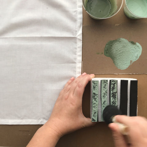 Applying One Step Paint To A Stamp | Amy Howard At Home | DIY Project