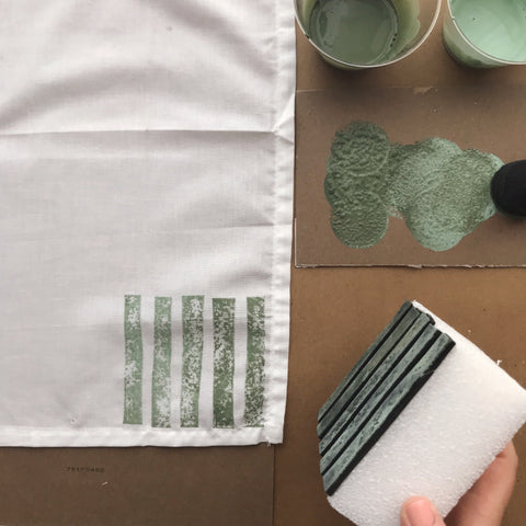 Using One Step Paint With A DIY Stamp | Amy Howard At Home
