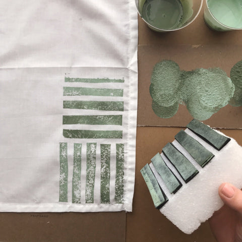 DIY Stamped Napkin | One Step - Chalk Based Paint | Amy Howard At Home