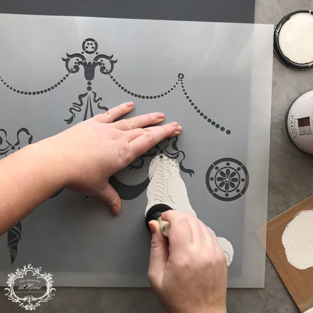 Furniture Medallion - Mylar Furniture Stencil