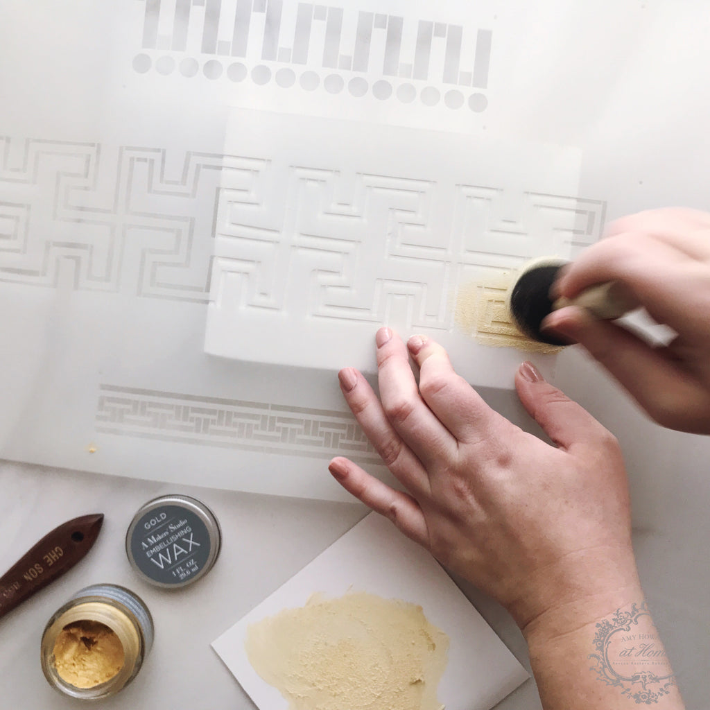 It's Greek to Me - Mylar Furniture Stencil