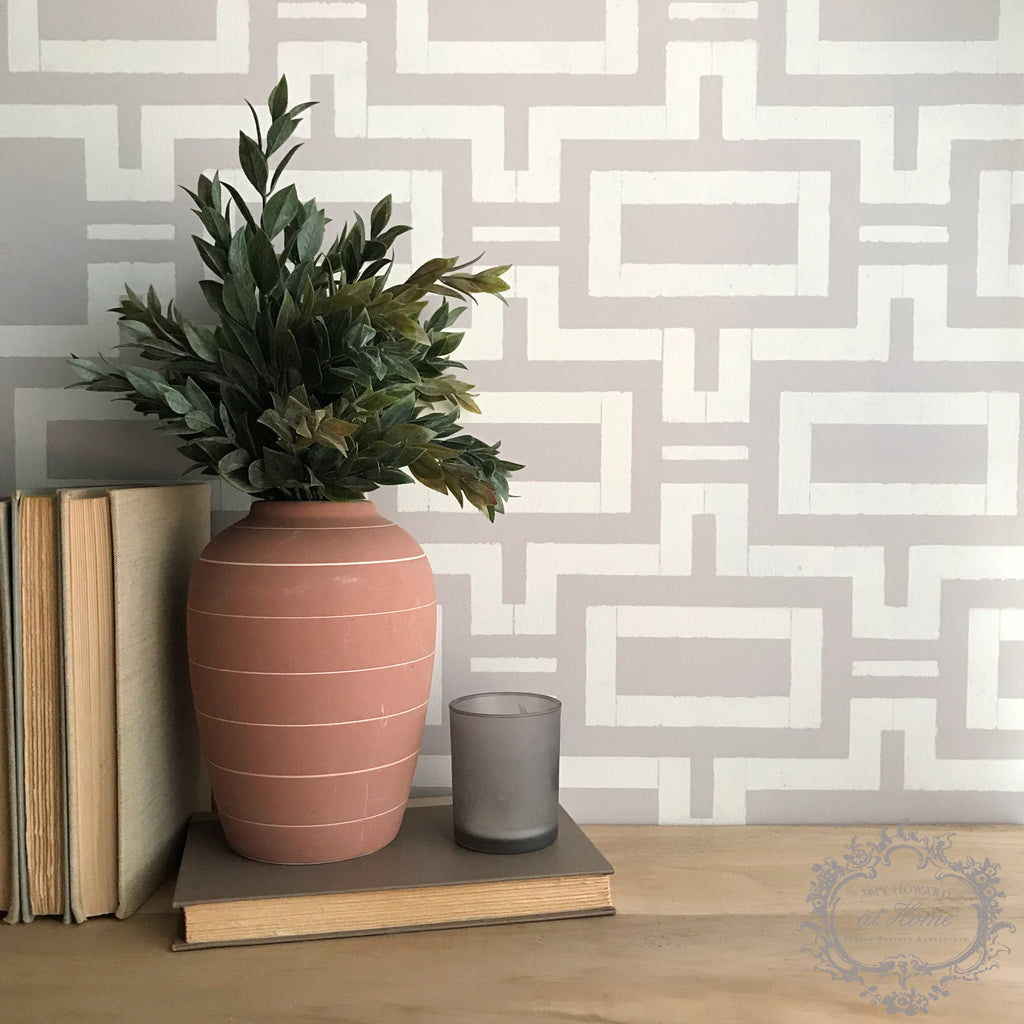 Smooth Lines - Wall Stencil