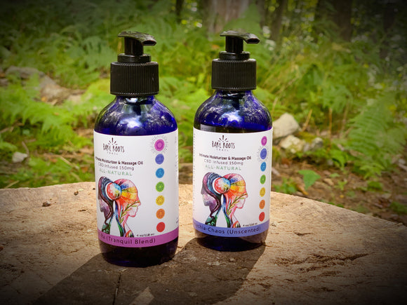 CBD Intimate Moisturizer and Massage Oil by Bare Roots Trail
