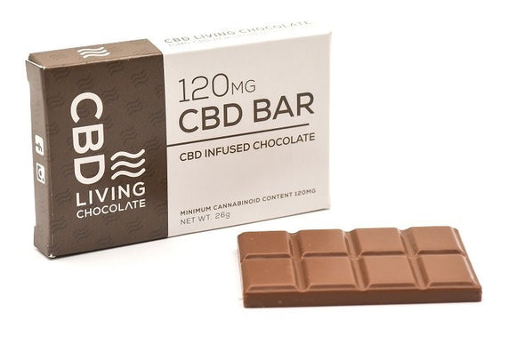 CBD Milk Chocolate Bar 120 mg