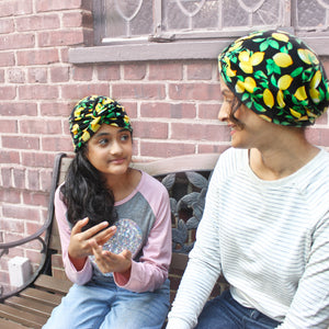 Kids + Adult | Lemon Matching Turbans