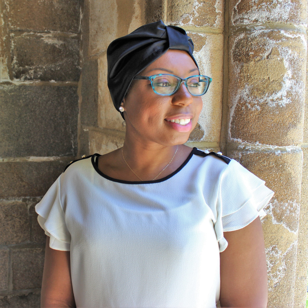 LOW STOCK | A Black Head Wrap Affair
