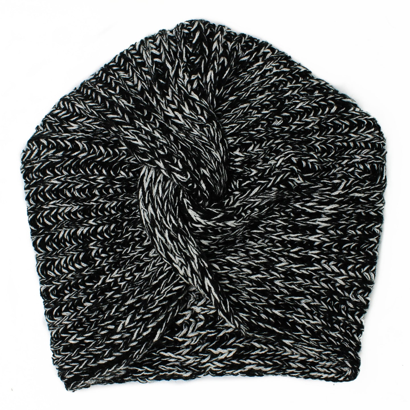 Knit Twist Knot Black White Turban | Sold Out