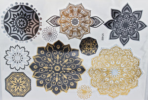 Sold Out | Henna Crown Temporary Tattoos - 4 Metallic Sheets