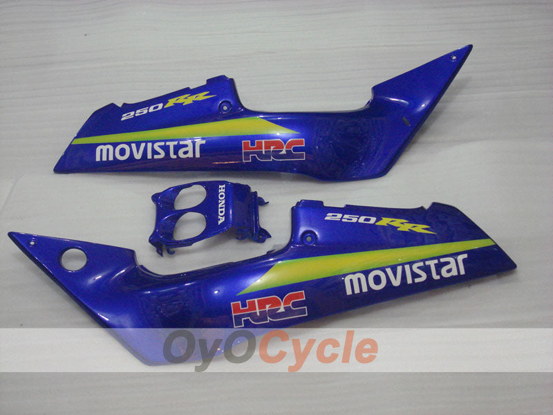Injection ABS Fairing kit For Honda CBR250RR 1988-1989 - Yellow, Blue - Movistar