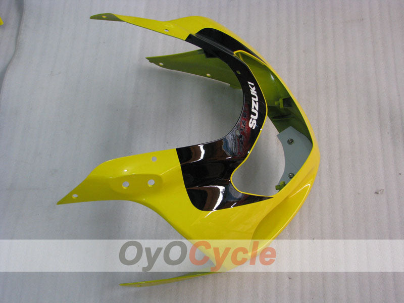 Injection ABS Fairing kit For Suzuki GSXR600 2001-2003 - Yellow, Silver - Factory Style