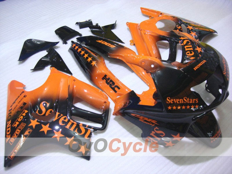 Injection ABS Fairing kit For Honda CBR600F3 1997-1998 - Orange Black - SevenStars