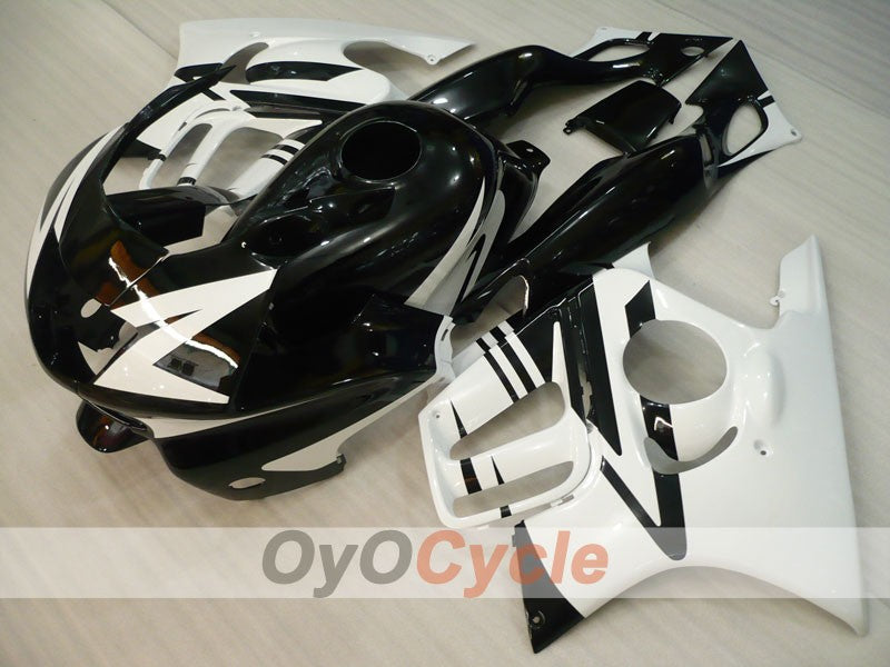 Injection ABS Fairing kit For Honda CBR600F3 1997-1998 - White Black - Factory Style