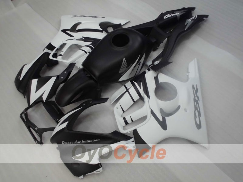 Injection ABS Fairing kit For Honda CBR600F3 1997-1998 - White Black Matte - Factory Style