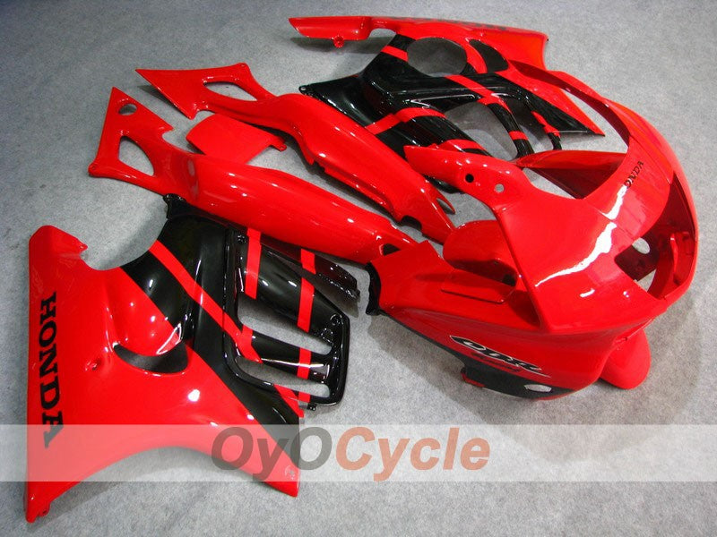 Injection ABS Fairing kit For Honda CBR600F3 1995-1996 - Red Black - Factory Style