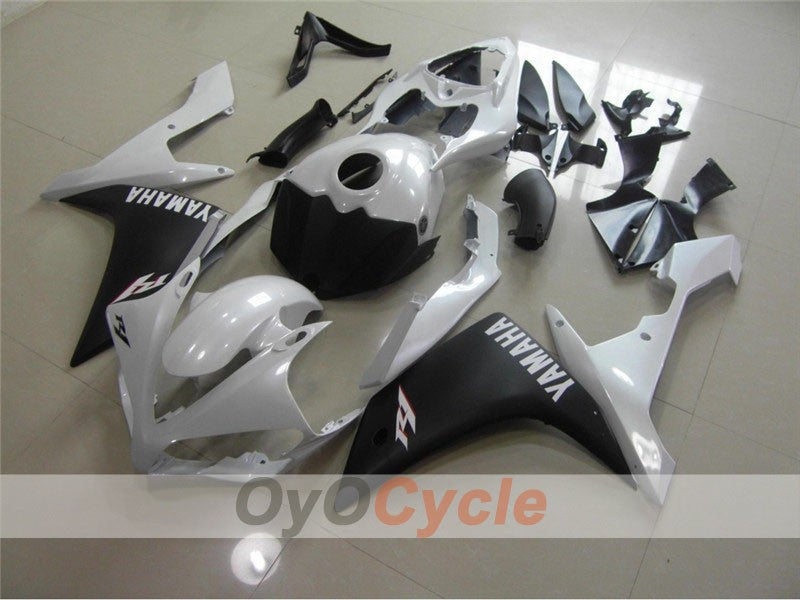 Injection ABS Fairing kit For Yamaha YZF-R1 2007-2008 - White Black Matte - Factory Style
