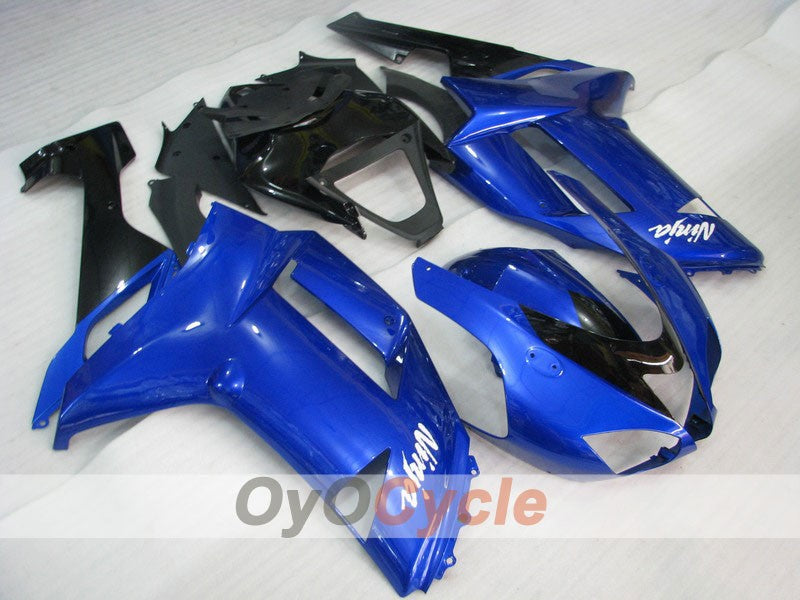 Injection ABS Fairing kit For Kawasaki NINJA ZX-6R 2007-2008 - Blue, Black - Factory Style