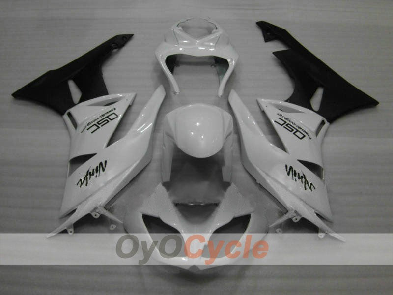 Injection ABS Fairing kit For Kawasaki NINJA ZX-6R 2009-2012 - White, Black - Factory Style