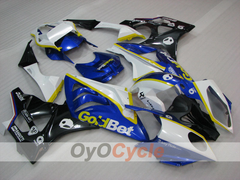 Injection ABS Fairing kit For Bmw S1000RR 2009-2014 - Blue, Black - PIRELLI