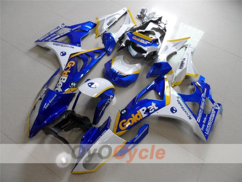 Injection ABS Fairing kit For Bmw S1000RR 2009-2014 - Blue, White - PIRELLI