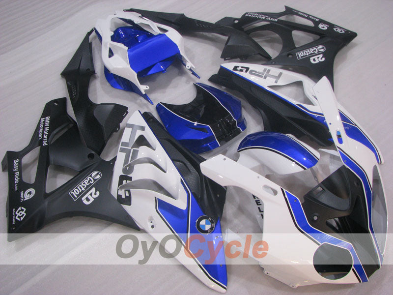 Injection ABS Fairing kit For Bmw S1000RR 2009-2014 - White, Black - PIRELLI