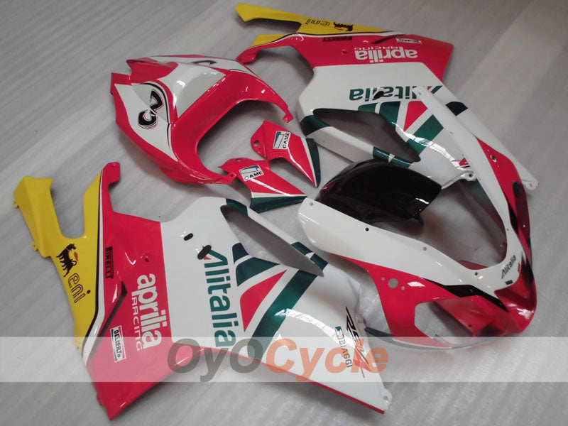 Injection ABS Fairing kit For Aprilia RSV 1000 R 2003-2006 - Red, White - Factory Style