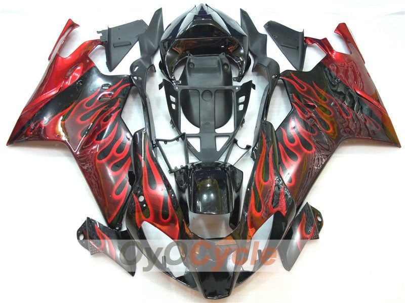 Injection ABS Fairing kit For Aprilia RSV 1000 R 2003-2006 - Red, Black - Flame