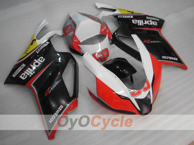 Injection ABS Fairing kit For Aprilia RSV 1000 R 2003-2006 - Red, Black - Factory Style