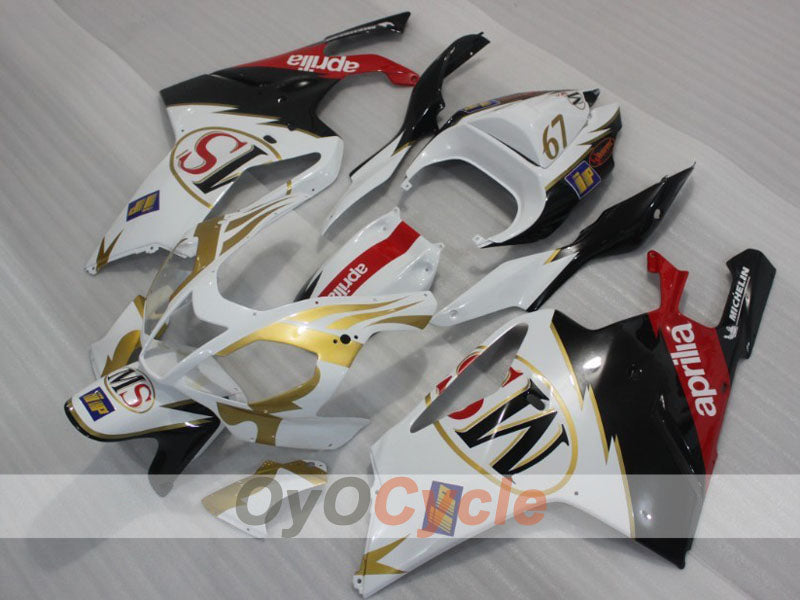 Injection ABS Fairing kit For Aprilia RSV 1000 R 2003-2006 - White, Black - Factory Style