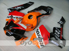 Injection ABS Fairing kit For Honda CBR600RR 2003-2004 - Orange, Black - Repsol