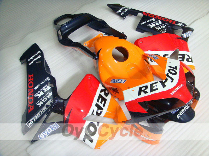 Injection ABS Fairing kit For Honda CBR600RR 2003-2004 - Red, Yellow - Repsol