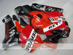 Injection ABS Fairing kit For Honda CBR600RR 2003-2004 - Red, Black - Repsol