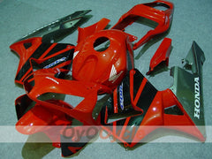 Injection ABS Fairing kit For Honda CBR600RR 2003-2004 - Red, Black - Factory Style