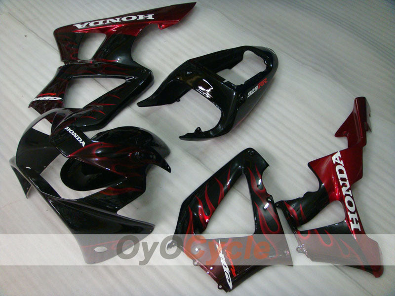 Injection ABS Fairing kit For Honda CBR929RR 2000-2001 - Red Black - Flame