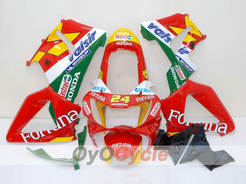 Injection ABS Fairing kit For Honda CBR929RR 2000-2001 - Red Yellow - Fortuna