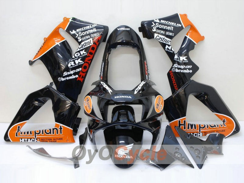 Injection ABS Fairing kit For Honda CBR929RR 2000-2001 - Orange Black - HM Plant
