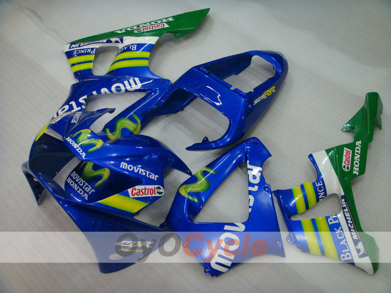 Injection ABS Fairing kit For Honda CBR929RR 2000-2001 - Yellow Blue - Movistar
