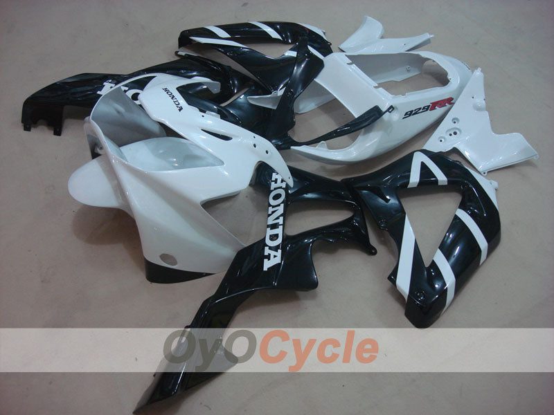 Injection ABS Fairing kit For Honda CBR929RR 2000-2001 - White Black - Factory Style