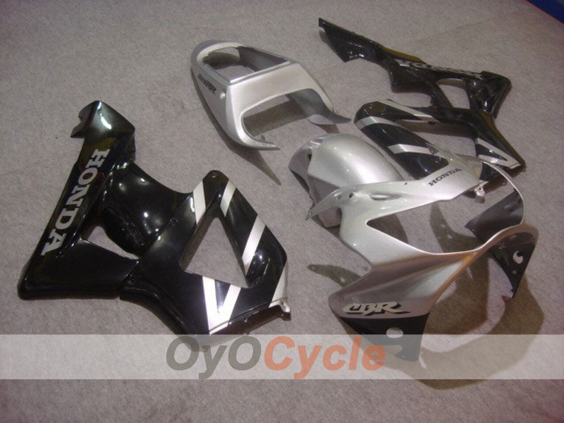 Injection ABS Fairing kit For Honda CBR929RR 2000-2001 - Black Silver - Factory Style